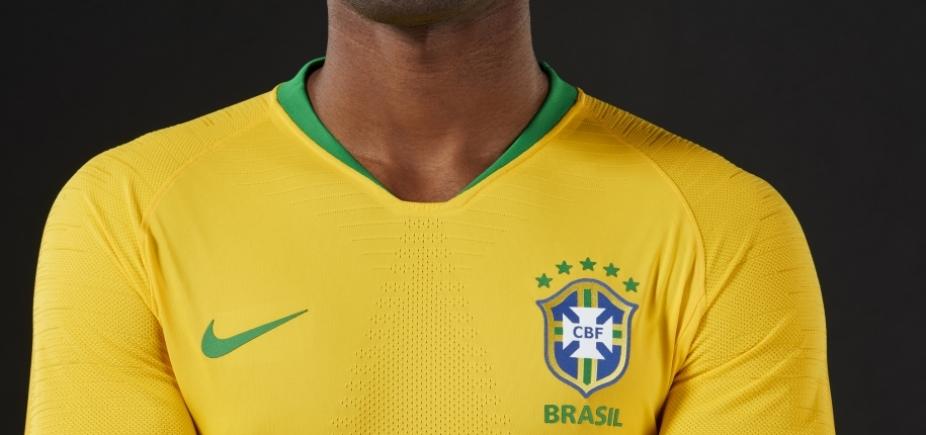07043b3d11 Brasil lança oficialmente uniformes da Copa  veja - Metro 1