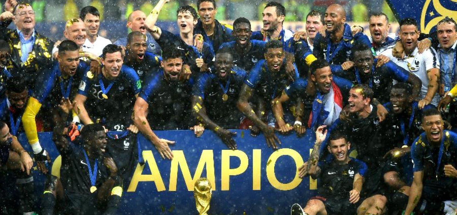 0cb446cd5bbc9 França lidera novo ranking da Fifa após Copa do Mundo  Brasil cai para  terceiro