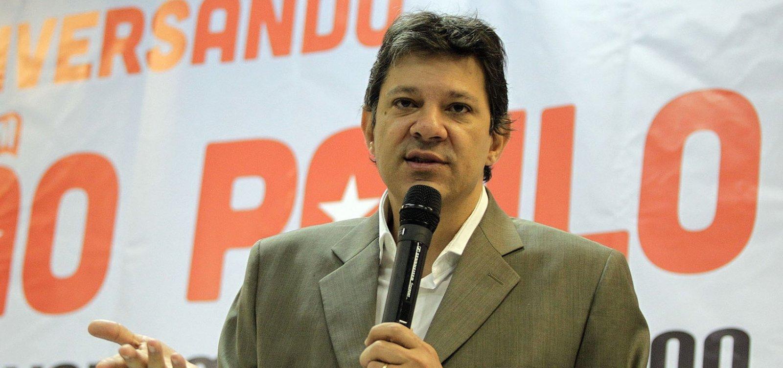 Resultado de imagem para HADDAD SERÁ OFICIALIZADO CANDIDATO DO PT À PRESIDÊNCIA NO DIA 11, DIZ COLUNA