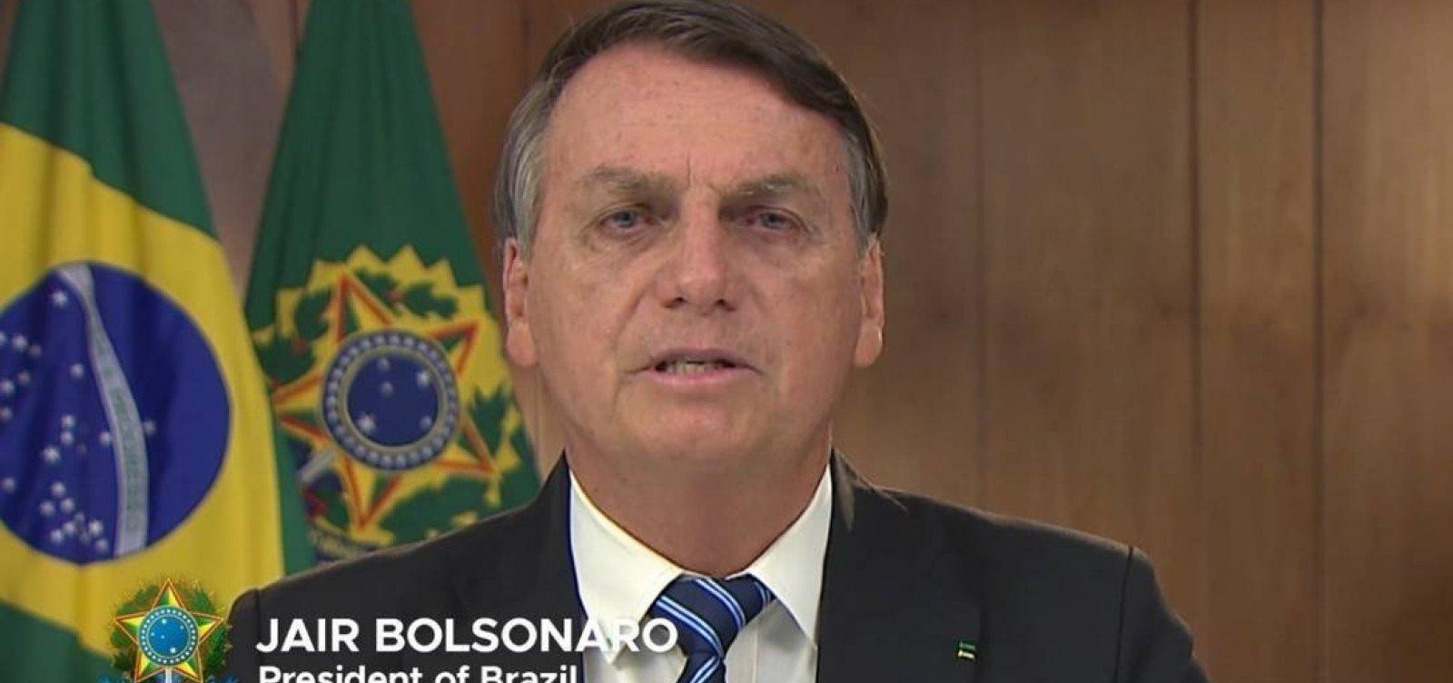 [No G20, Bolsonaro diz que estava certo no combate à pandemia]