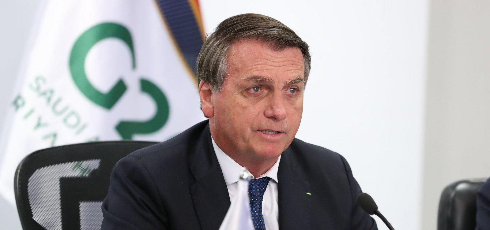 [ Bolsonaro diz ao G20 que tensões entre raças no Brasil são importadas e 'alheias à nossa história' ]