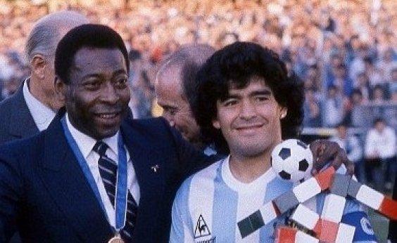 [Pelé sobre Maradona: 'Espero que possamos jogar bola juntos no céu']