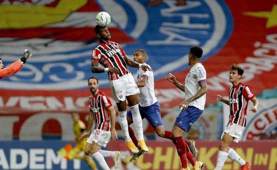 [Bahia é dominado pelo São Paulo e perde por 3 a 1 na Fonte Nova]