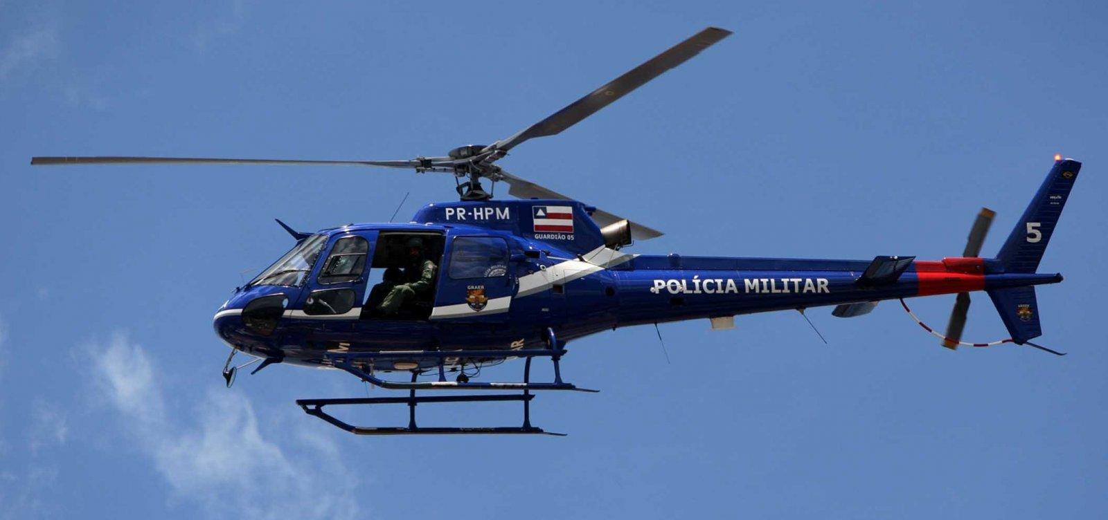 [SSP envia helicóptero para coibir crimes eleitorais em Vitória da Conquista ]