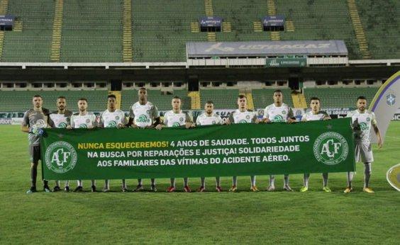 [Quatro anos após acidente aéreo, Chapecoense faz homenagem às 71 vítimas]