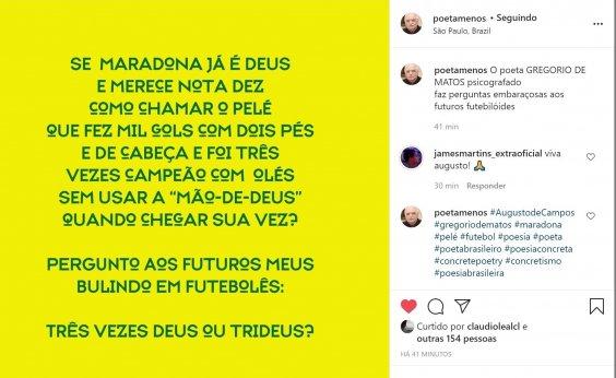 [Augusto de Campos psicografa Gregório de Matos em poema sobre Maradona e Pelé]