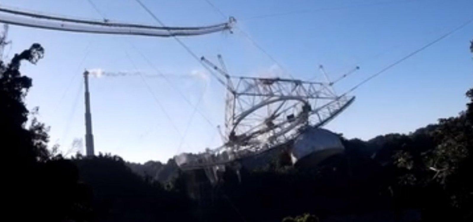 [Telescópio de Arecibo desaba e fica destruído em Porto Rico; veja vídeo ]