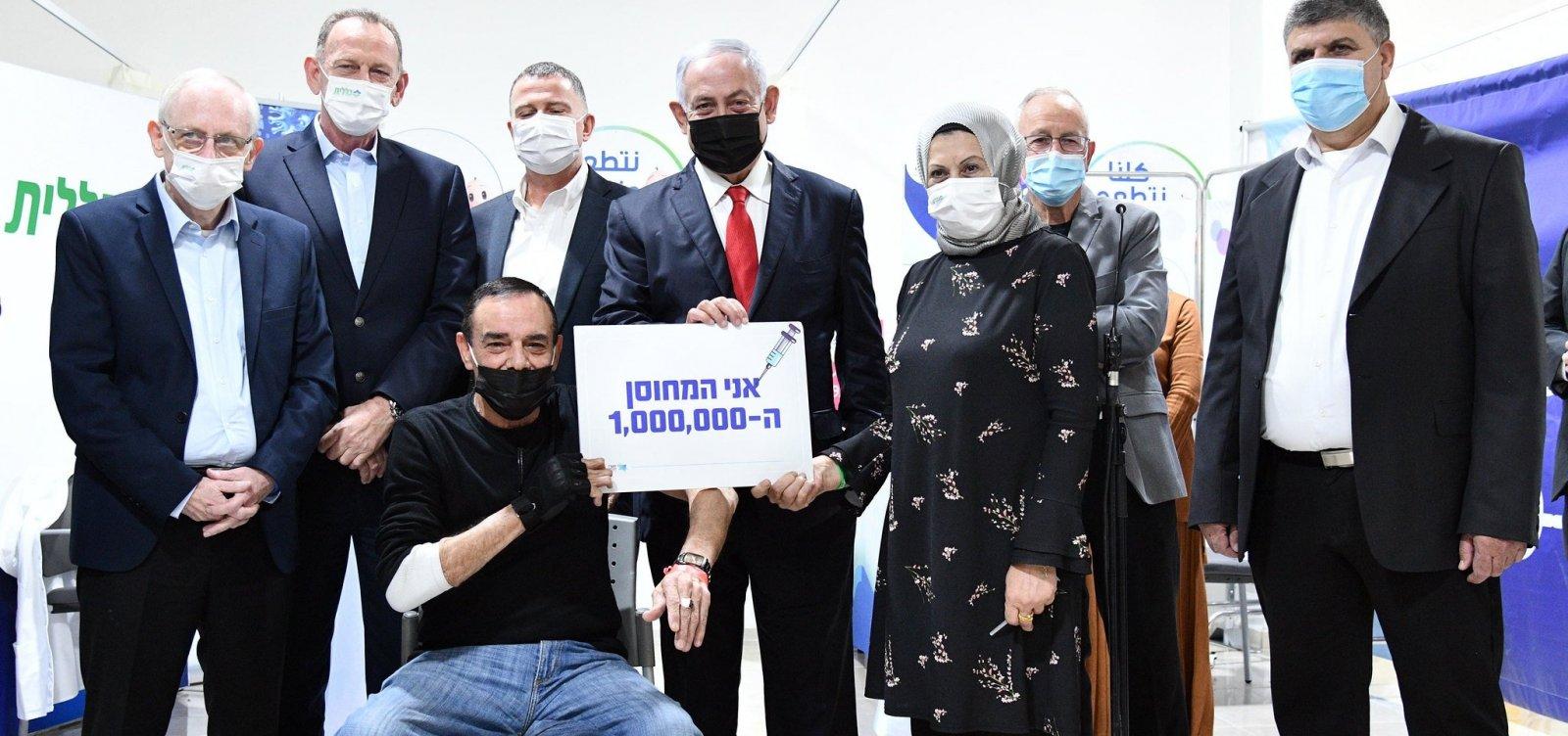 [Israel atinge a marca de 1 milhão de cidadãos vacinados contra a Covid-19]