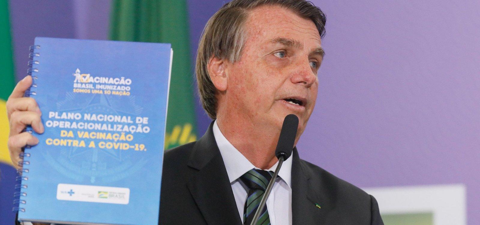 [Planalto determina que cartão de vacinação de Bolsonaro fique em sigilo por 100 anos]