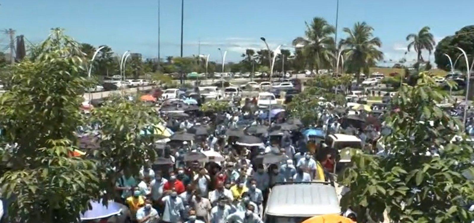 [Funcionários da Ford de Camaçari protestam em frente à Assembleia Legislativa da Bahia]