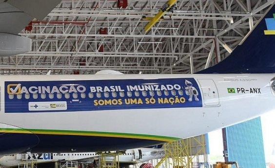 [Avião que vai buscar vacinas na Índia decola hoje do Recife]