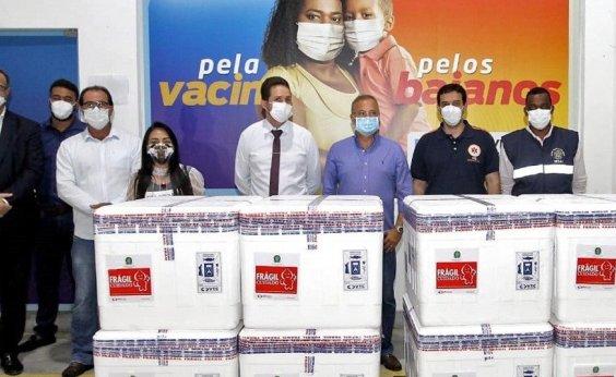 [Bahia recebe 376 mil vacinas; distribuição é inciada]