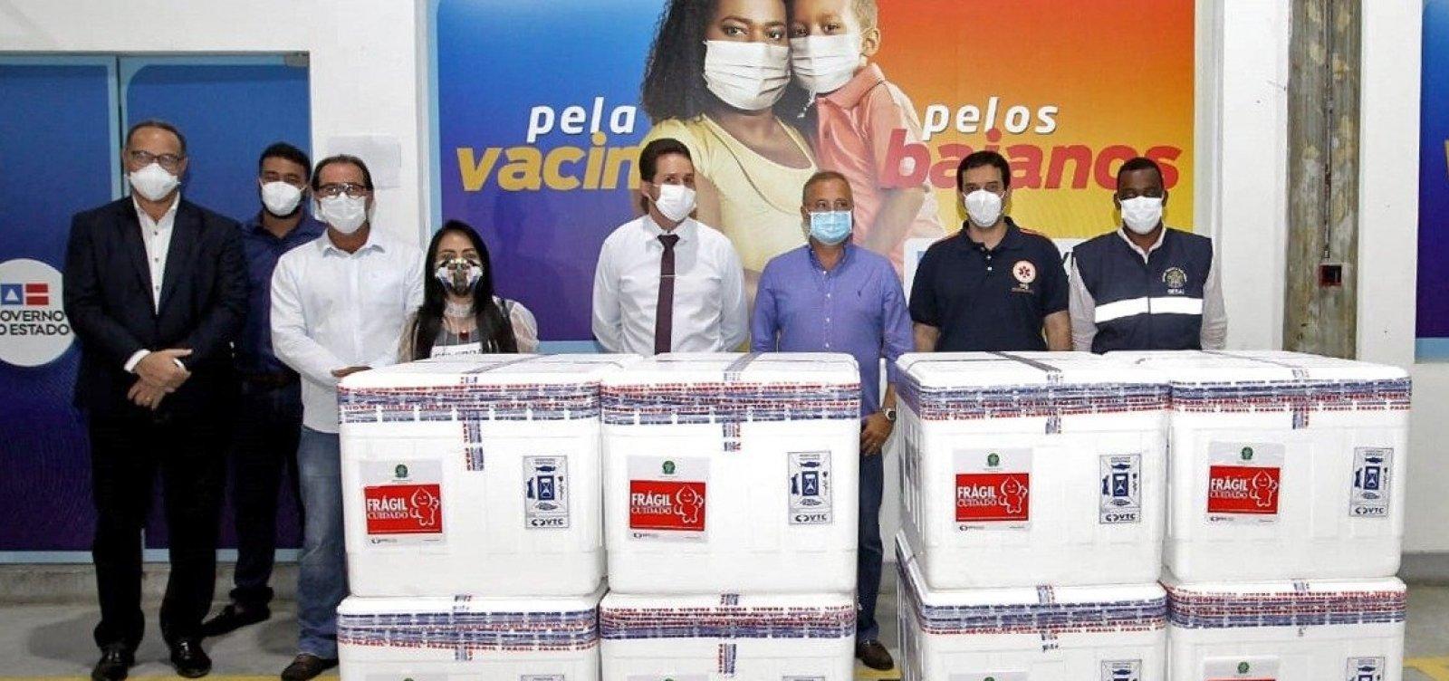 [Bahia recebe 376 mil vacinas; distribuição é iniciada]