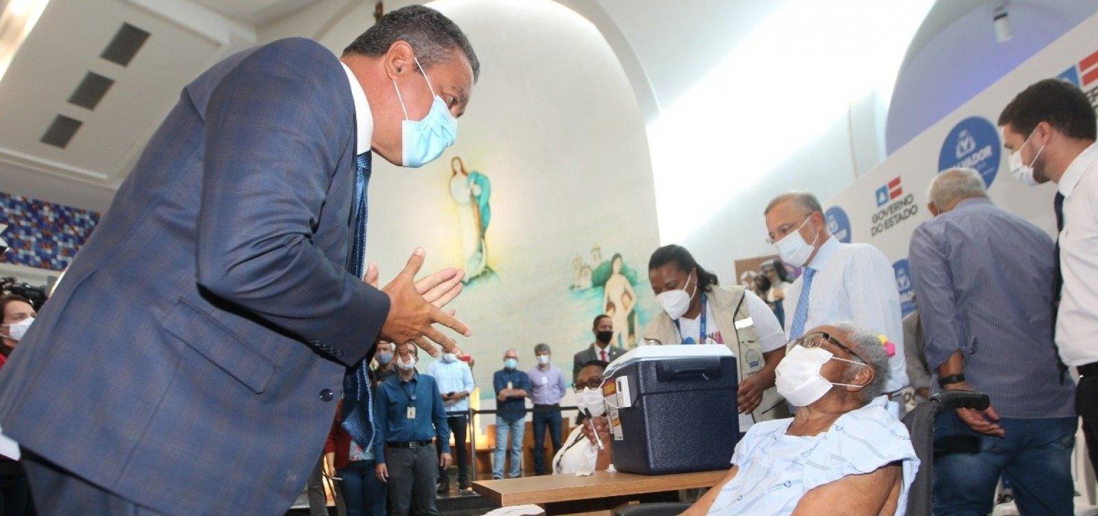 [Rui diz que início de vacinação contra a Covid-19 é 'luz no fim do túnel' na Bahia]