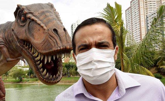 [Visitação à Lagoa dos Dinossauros deverá ser agendada aos finais de semana]