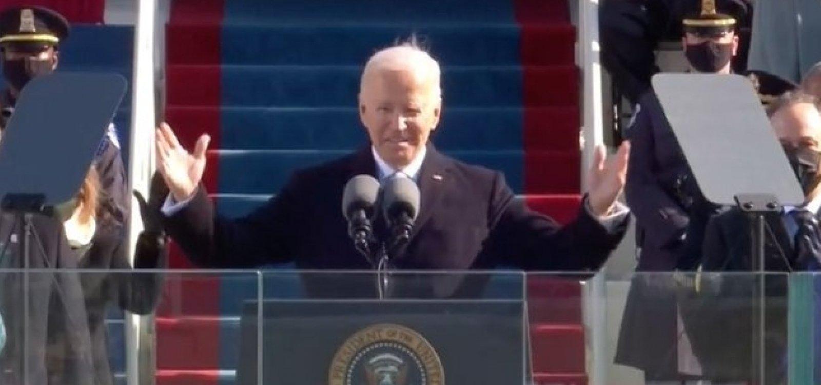 [Biden toma posse como presidente dos Estados Unidos ]