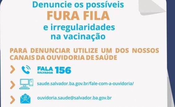[Salvador cria canal de denúncias sobre vacinação da Covid-19]