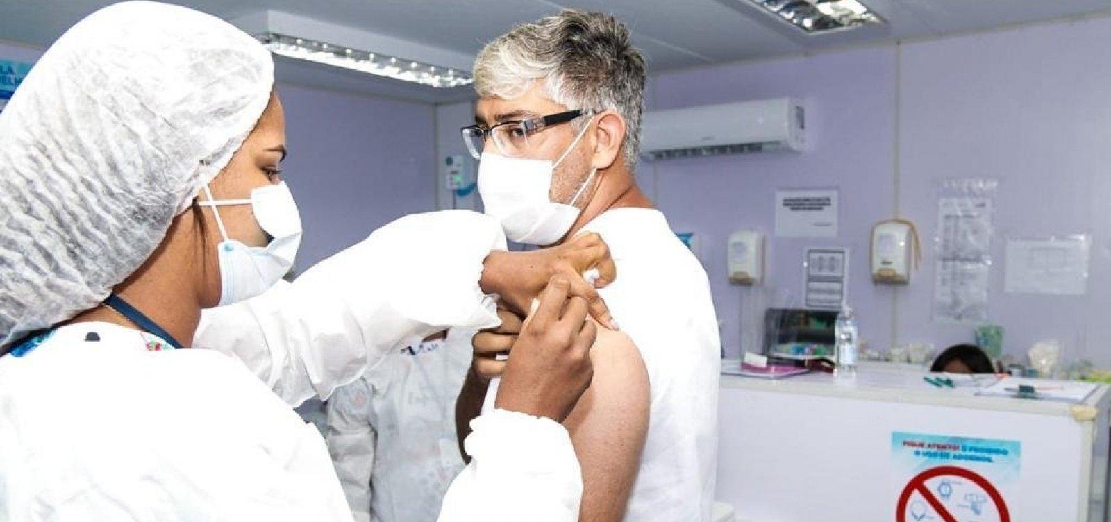 [Covid-19: Trabalhadores da saúde da Ilha de Bom Jesus dos Passos recebem vacina ]