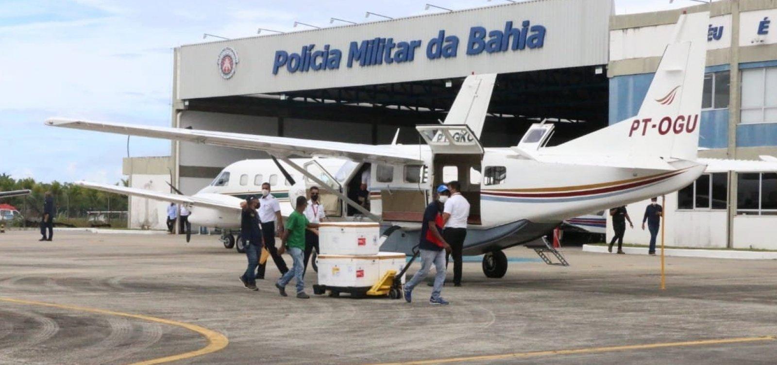 [Aeronaves fazem distribuição de vacinas pelo interior da Bahia]