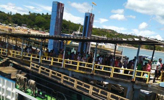 [Ferry-boat tem movimento intenso; usuários relatam aglomeração]