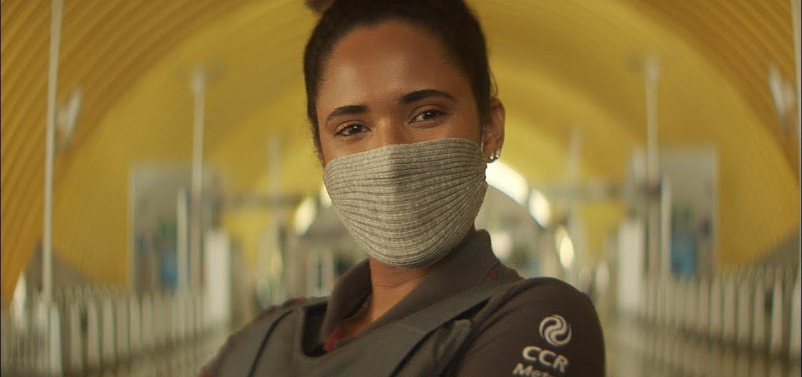 [CCR usa máscara condenada pela comunidade científica em propaganda]