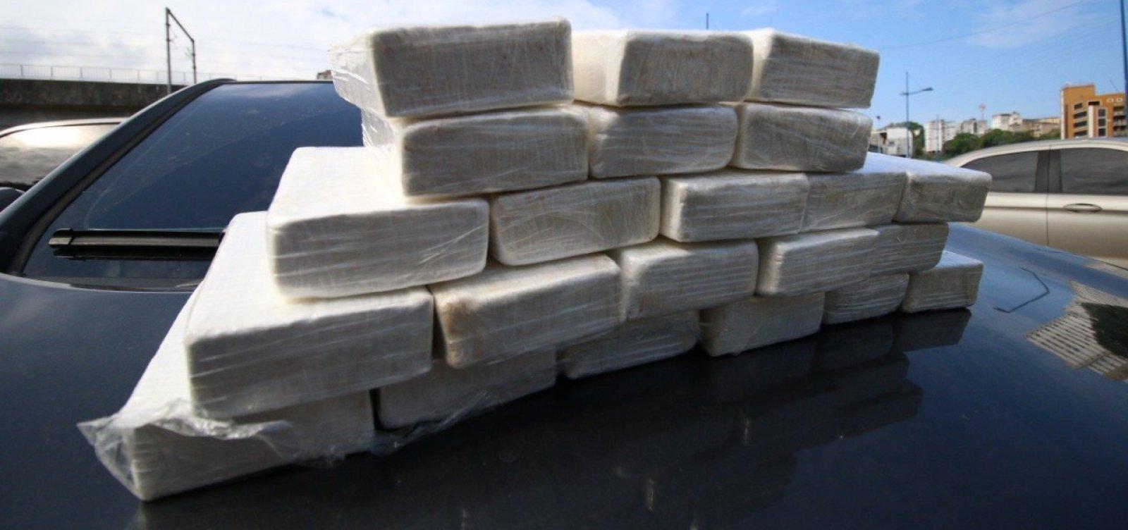 [Apreensões de cocaína crescem 1.000% na Bahia]