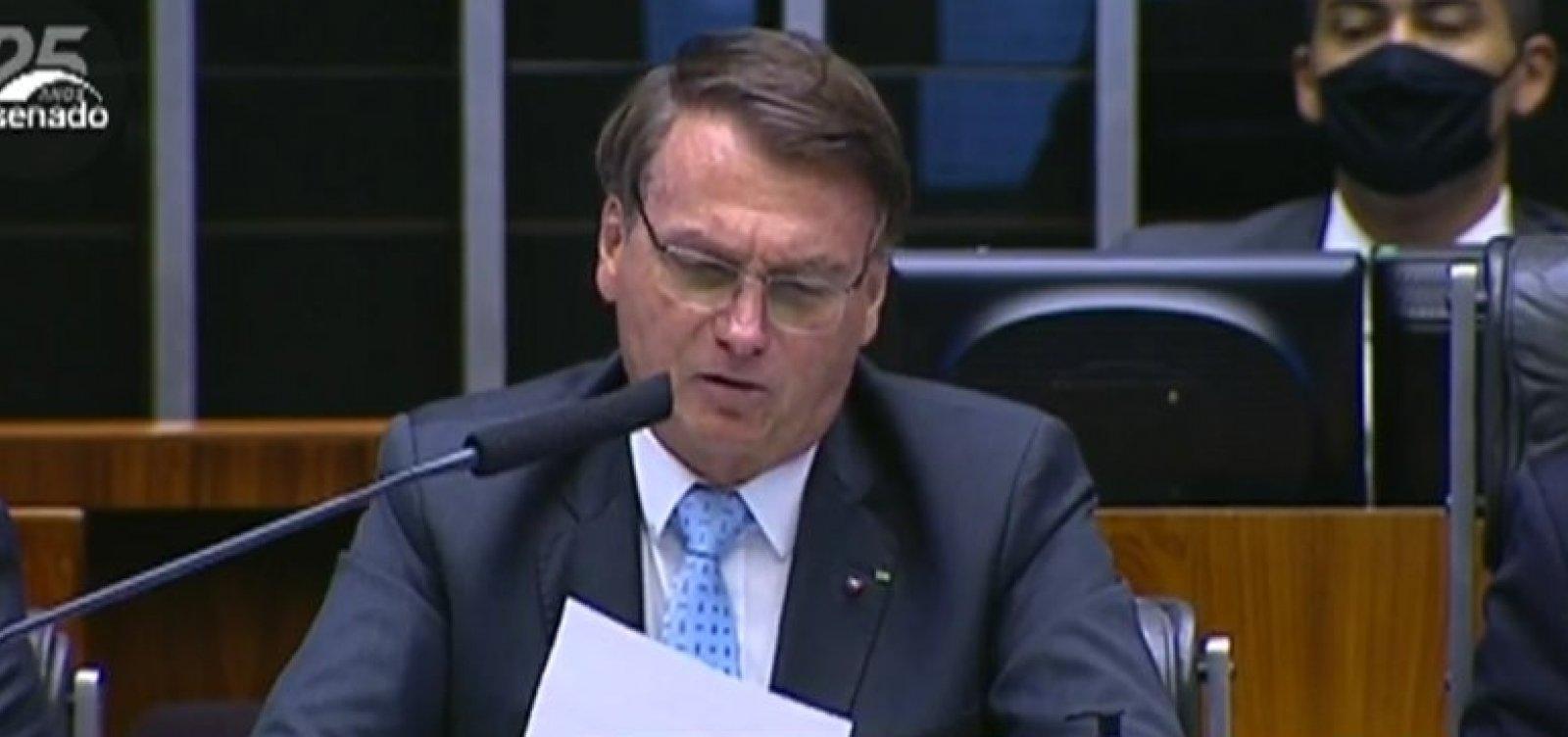 [Chamado de genocida e fascista no Congresso, Bolsonaro responde: 'nos encontramos em 22']