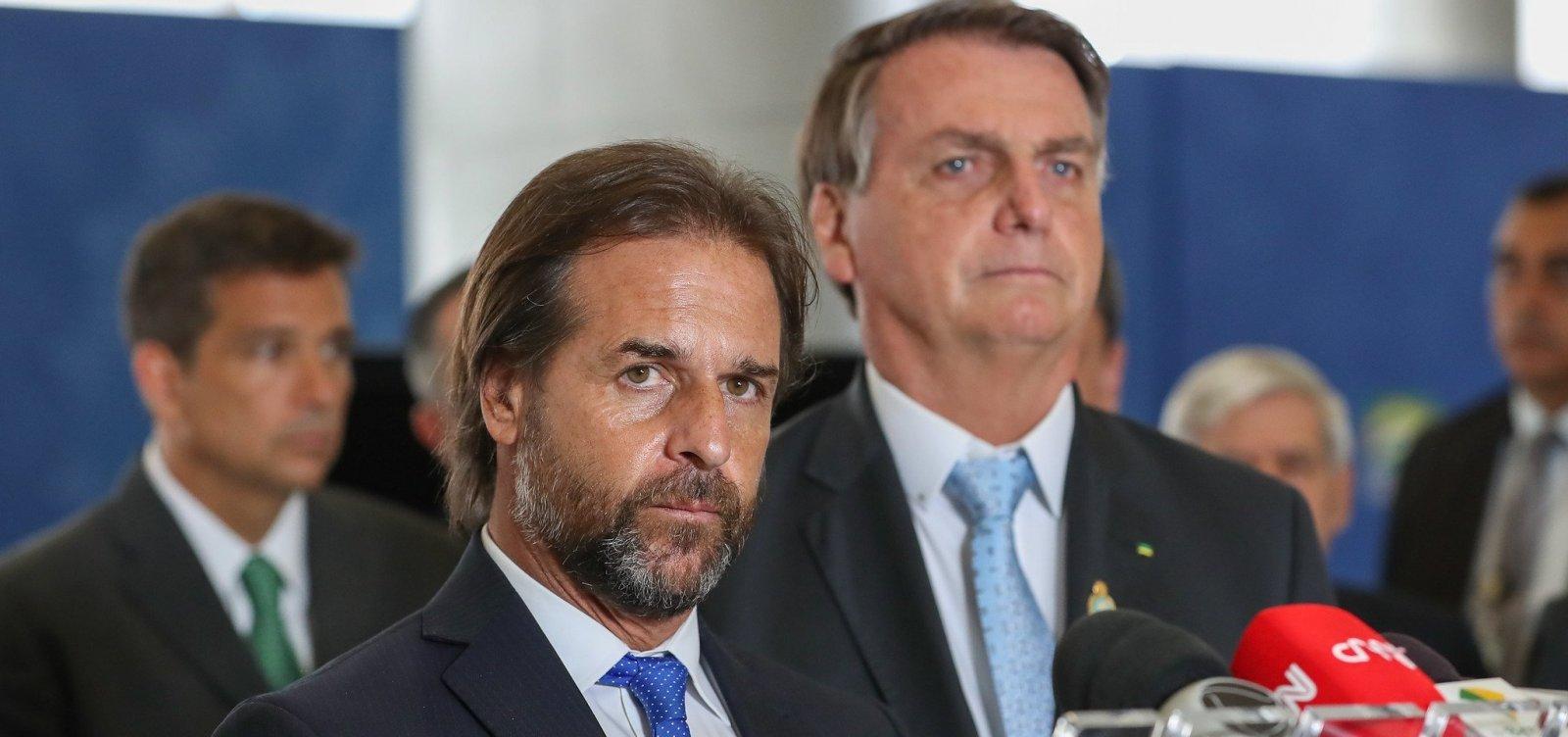 [Bolsonaro e presidente uruguaio defendem flexibilização do Mercosul]