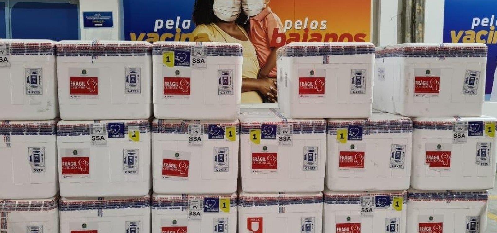 [Bahia recebe 186 mil novas doses de Coronavac]