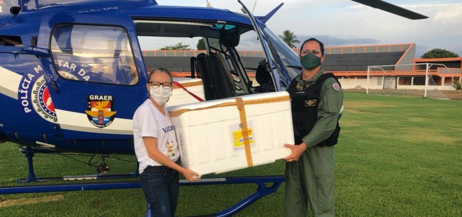[Vacinas contra Covid-19 são transportadas para 30 cidades na Bahia]
