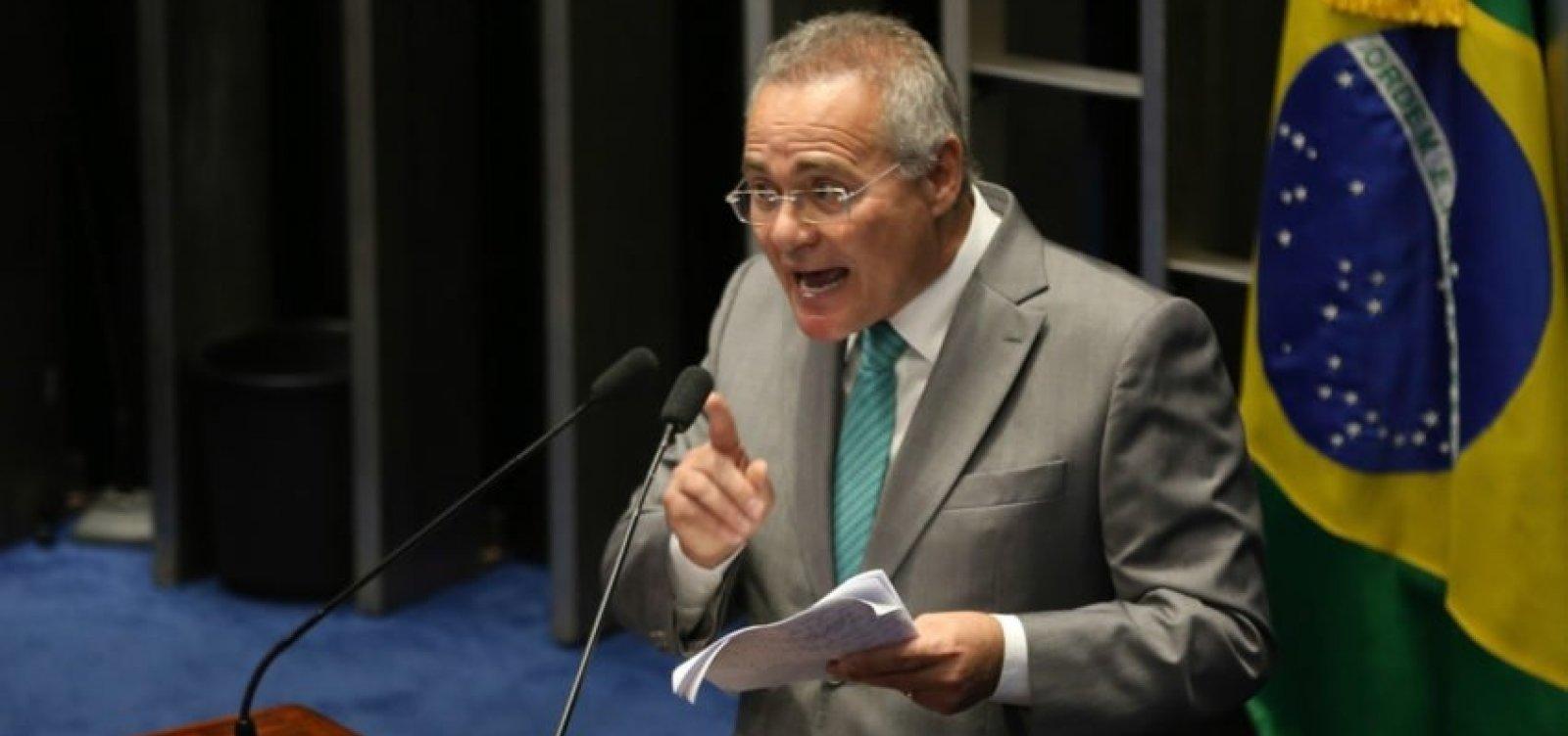 [Renan Calheiros defende anistia de hackers que vazaram conversas de Moro na Operação Lava-Jato]