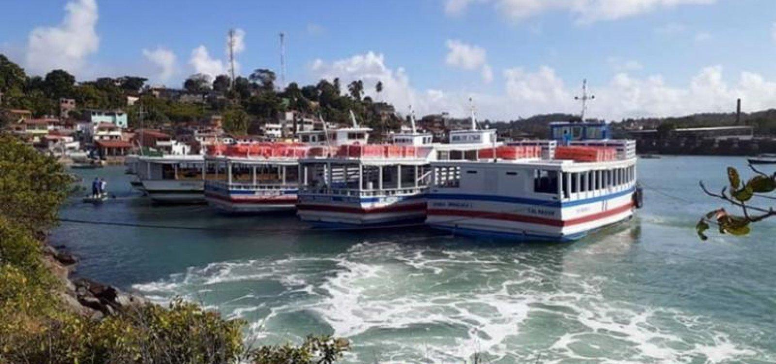 [Travessia Salvador - Mar Grande opera com oito embarcações sem filas nos terminais]