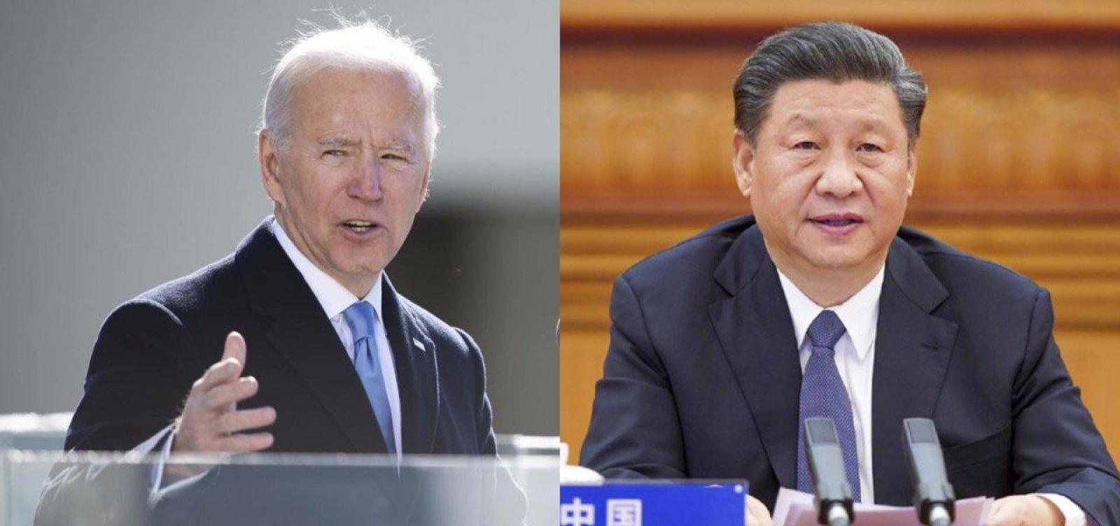 [Biden conversa pela primeira vez com presidente da China ]