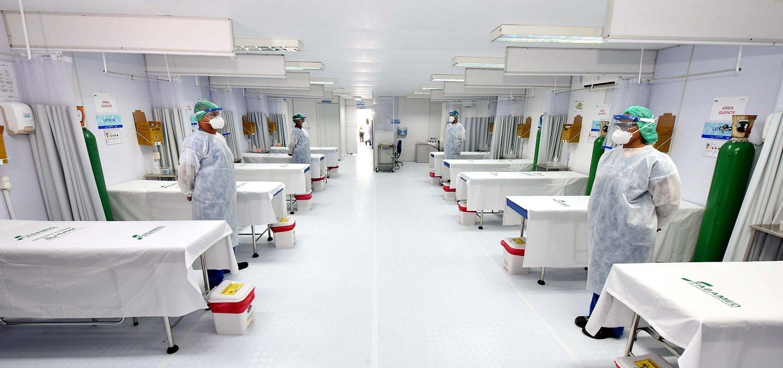[Nove hospitais registram 100% de ocupação de leitos para Covid-19 na Bahia]