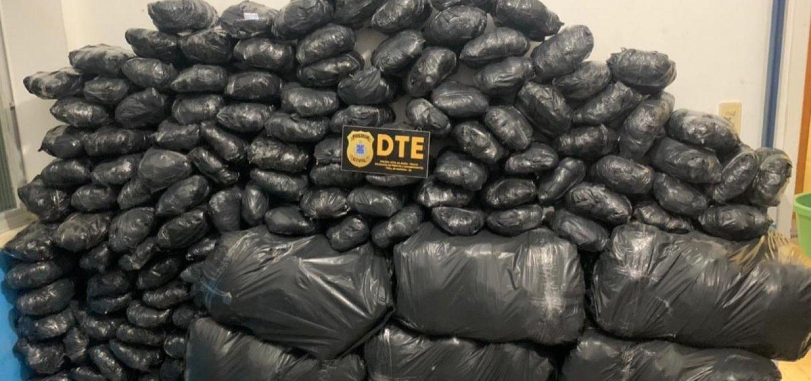 [Operação da Polícia Civil em Feira de Santana apreende 300kg de maconha]