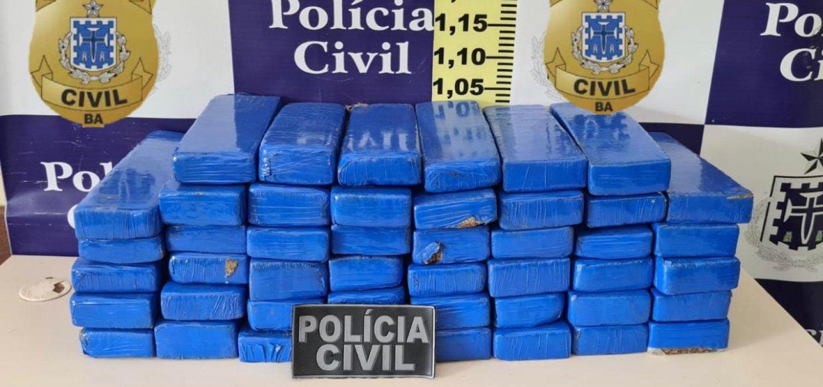 [Feira de Santana: homem é preso em flagrante com 46 tabletes de maconha em ônibus]