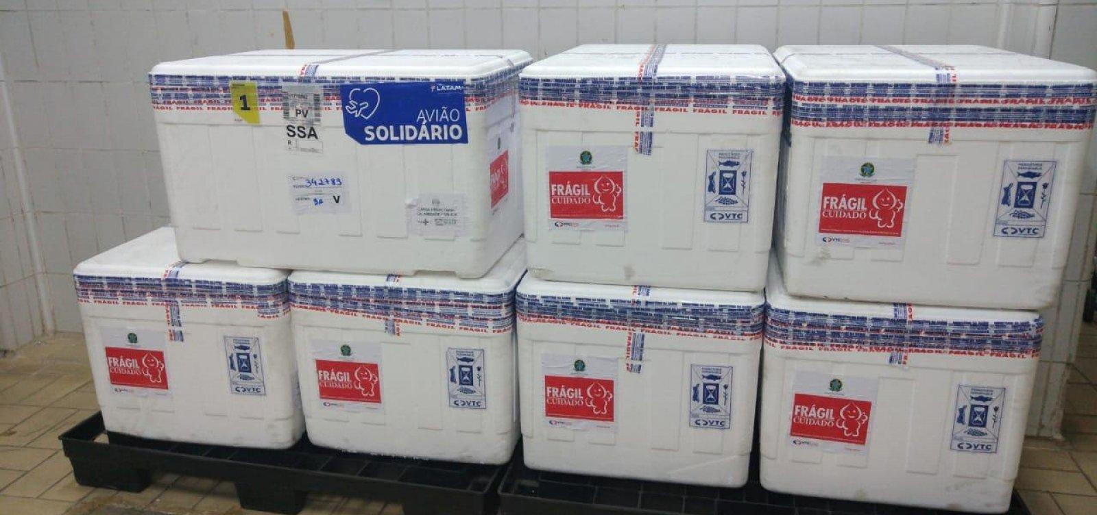 [Chegam em Salvador 79,2 mil doses da Coronavac]