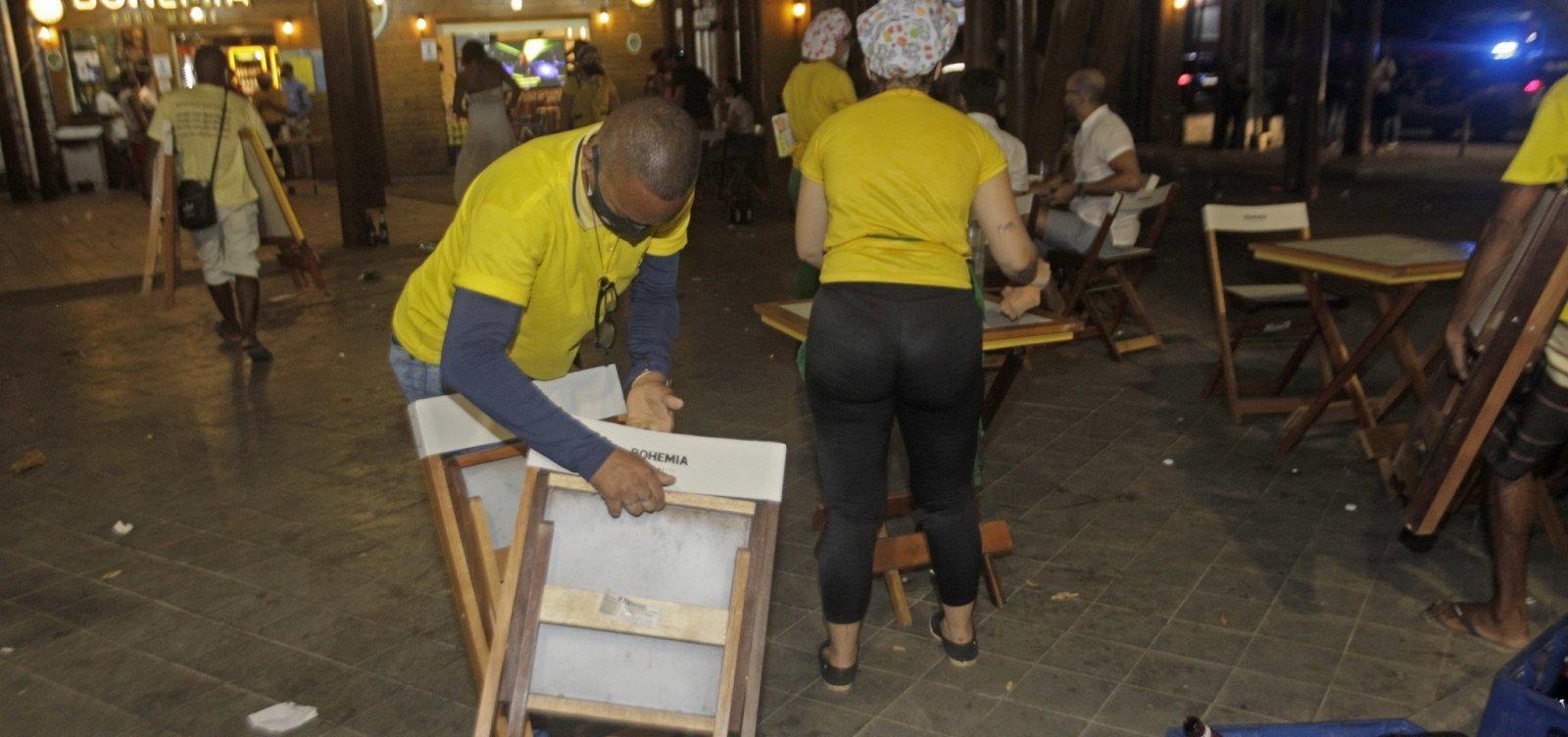 [Governo da Bahia proíbe venda de bebida alcoólica durante lockdown]