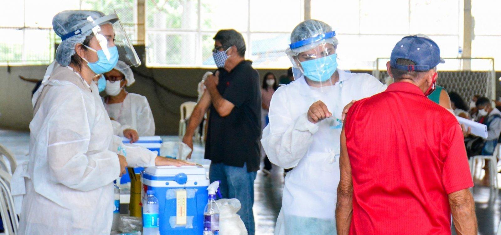 [Receberam a primeira dose da vacina 0,3% da população brasileira, diz consórcio de imprensa]