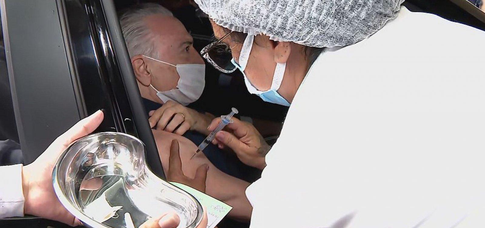 [Ex-presidente Michel Temer é vacinado contra a Covid-19]
