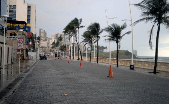 [Trecho da Avenida Oceânica na Barra continuará interditado todos os dias por causa das medidas restritivas  ]