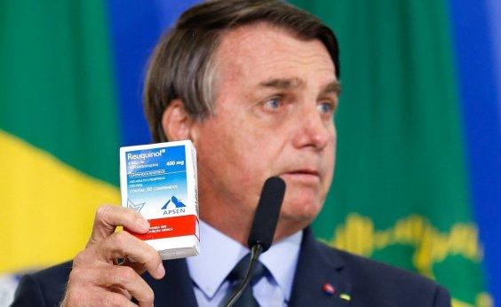[Bolsonaro volta a defender remédio sem eficácia comprovada contra a Covid-19]