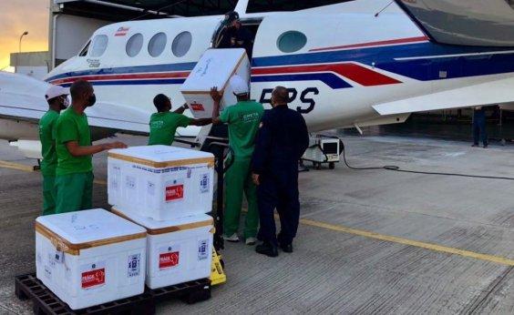 [Bahia recebe mais 165,6 mil doses da Coronavac]