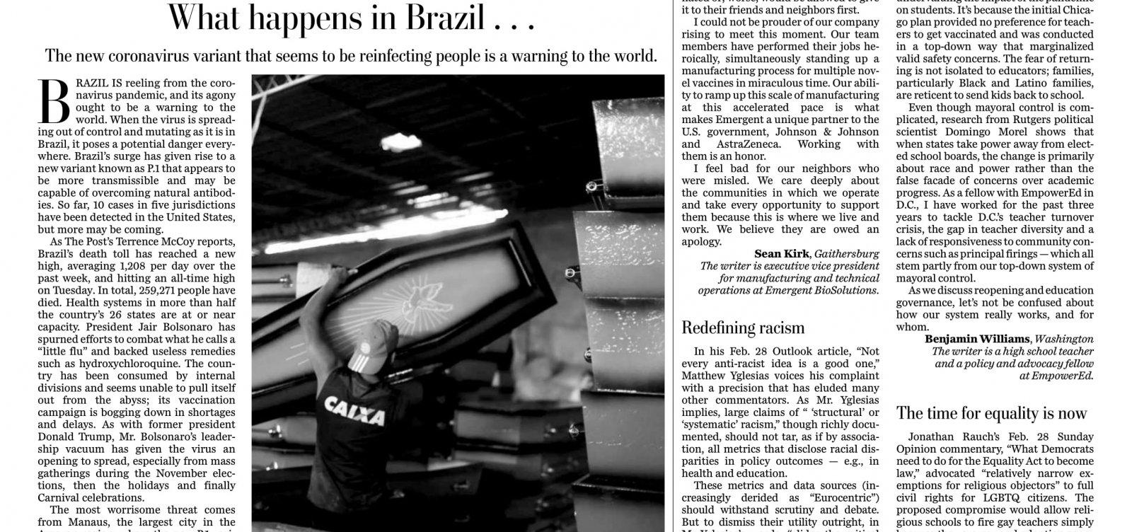 [Covid-19 no Brasil: New York Times, The Guardian e Washington Post repercutem crise do país; veja manchetes]