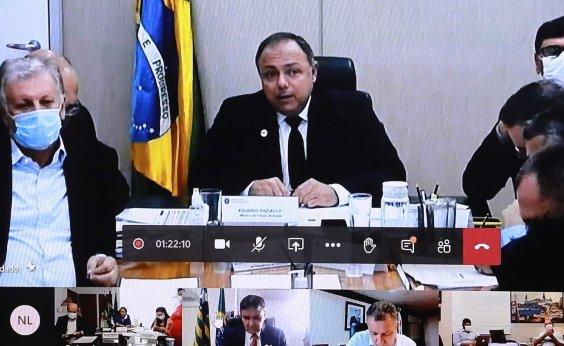 [Governadores se reúnem com Pazuello nesta segunda para discutir pacto nacional de combate à Covid-19]
