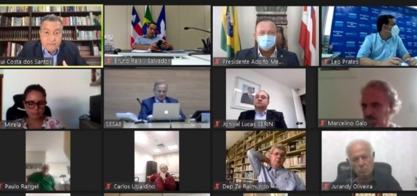 [Rui se reúne com deputados estaduais para debater medidas de enfrentamento à Covid-19]