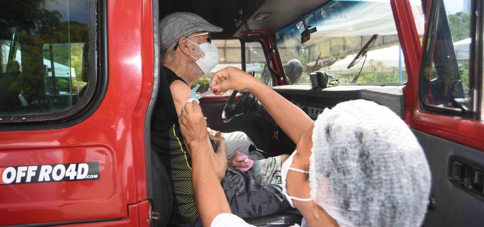[Salvador inicia vacinação para idosos de 77 anos nesta quarta-feira]