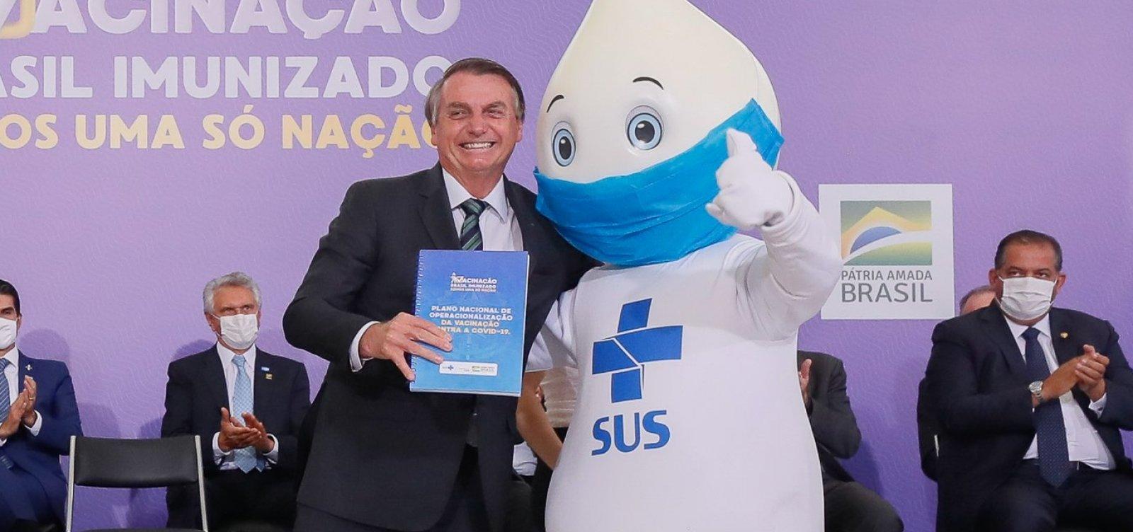 [Bolsonaro promete entrar na fila para se vacinar contra a Covid-19]