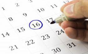 [Governo divulga lista de feriados nacionais; confira]