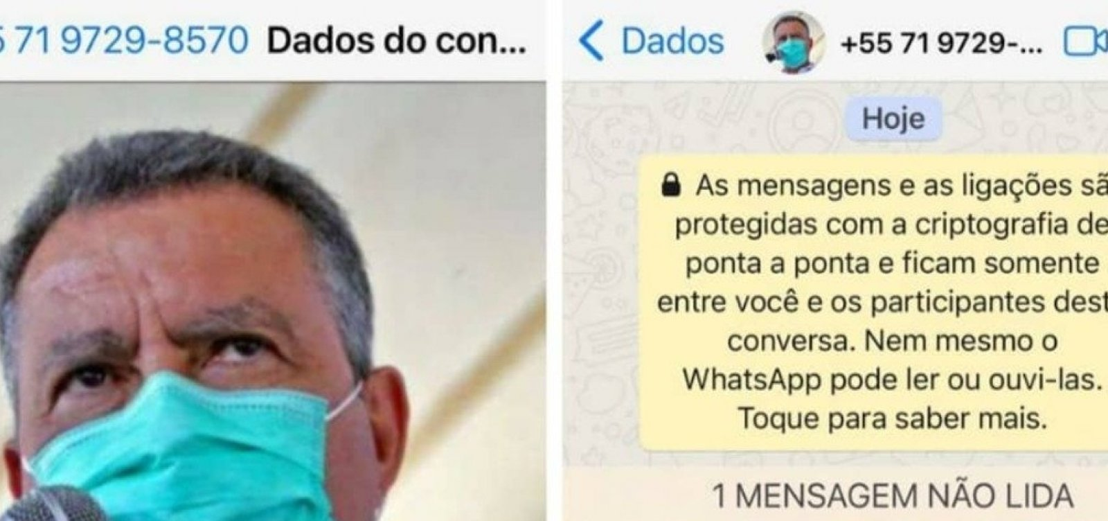 [Rui Costa alerta para conta falsa no WhatsApp criada em seu nome]
